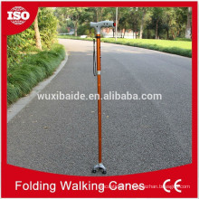 color anodized cnc machining walking cane/cnc machined titanium walking cane/high polished walking cane