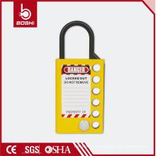 (BD-K51) Seis buracos de melhor preço Segurança Alumínio Lockout Hasp, bloqueio de botão