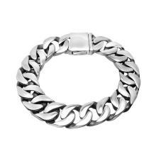 Accessoires de mode Bracelets cubains pour hommes Bijoux en acier inoxydable sans décoloration
