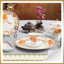 Brilliant new design porcelain dinnerware set luxury dinner set
