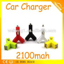 Cargadores de gama alta del coche del usb, linterna de carga del coche