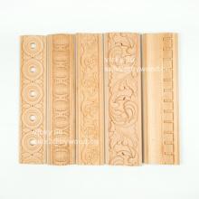 Talla de madera decorativa diseño de casas molduras de abedul molduras de madera maciza