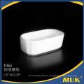 2015 nueva moda en línea venta hotel blanco cerámica pequeña placa
