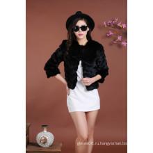 Женская короткая черная шерстяная куртка, сексуальная пальто леди Весна осень Зима