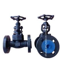 Válvula de globo forjada DIN da extremidade da conexão da flange do aço carbono A105