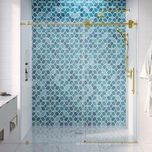 Seawin 3/8 inch thickness Aluminium Frame Single Hotel Glass Bathroom Roller sliding Shower Door