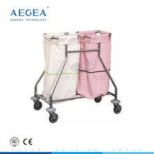 AG-SS019 suspending bags stainless steel material dirty clothes trolley