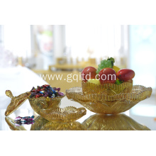 Crystal type transparent glass candy jar tray
