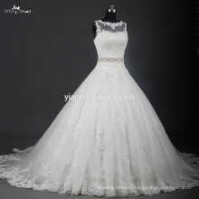 RSW951 Latest Bridal Wedding Gown Designs With Crystal Belt