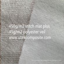 Fibra de vidrio con costuras cosidas de poliéster respaldado de fibra de vidrio para pultrusión