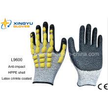 Hule Shell Sandy Nitrile guantes de trabajo de seguridad recubiertos (L9600)