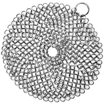 Stainless steel chainmail scrubber/ Cast iron cleaner/Stainless steel cleaner