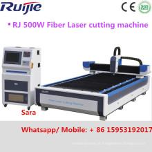 2016 Máquina de corte a laser de fibra de aço inoxidável de alta velocidade de aço carbono 500W 1200W (RJ-1325 RJ1530)