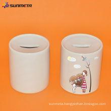 11oz sublimation ceramic money save box with photo frame