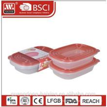 Новые функции! Пластиковый микроволновой продовольствия контейнера (2шт) 0,95 Л