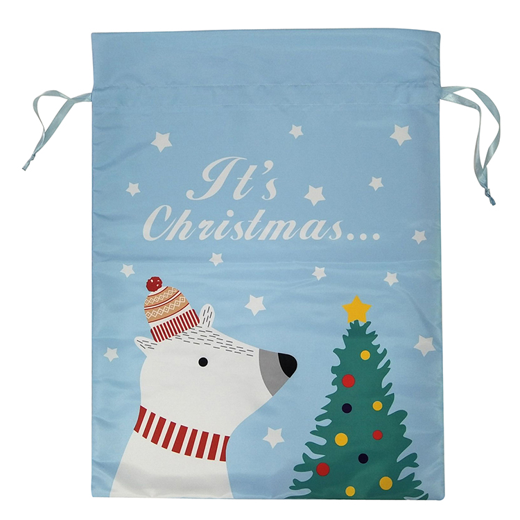 Christmas White Bear Pattern Sack