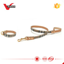 Polyster and leather adjustable dog collars