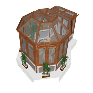 Крыльцо Экран Балкон Крышка патио Застекленная Sunroom