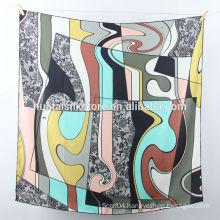 2014 New Design pure silk printed scarf bandana