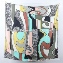 2014 La nueva seda pura del diseño imprimió el pañuelo de la bufanda