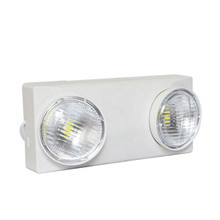 2 Head LED Emergency Fixture with Battery