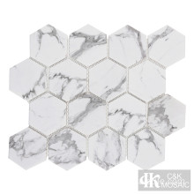 Mosaik Kaca Hexagon Backsplash 3inci