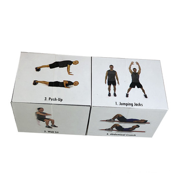 Custom design logo printed cube puzzle with advertising business photo folding magic cube puzzle 3x3x3