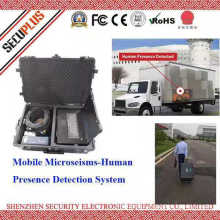 Mobile human presence deetection system with alarm for illegal immigrants at customs