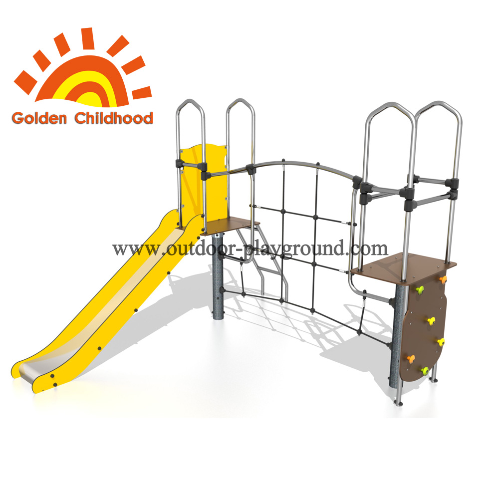 Climbing hill adventure playground apparatus