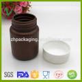 Venda por atacado cilindro líquido plástico 30ml garrafa âmbar com tampa de rosca