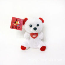 Plush Valentine Bear Key Ring