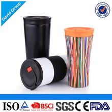 Food Grade Travel Insulated Stainless Steel Drinkware Beverage cup with leak proof lid