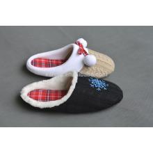 cashmere quiet women/men indoor warm soft sole slipper plush slipper