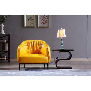 Waxy Leather Sofa, Europe Genuine Leather Sofa (Y035)