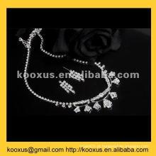 Conjunto de jóias de cristal de casamento