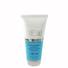 oval flat facial cream plastic tube cleanser tube