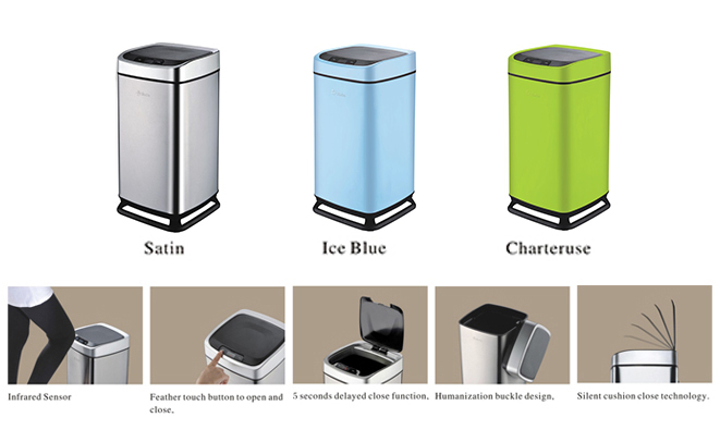 Large capacity smart sensor trash can