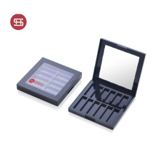 Hot Sale Black Square Makeup Eyeshadow Palette Container Single Eyeshadow Palette Case
