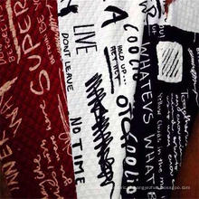 Tecido estampado tricotado jacquard 100% poliéster