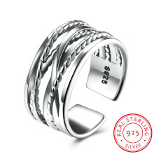 925 Sterling Silver Ringent Line Hot Sale Silver Ring Fashion Jewelry for Men and Women