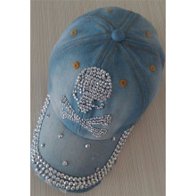 diamante del dril de algodón cráneo béisbol cap tapa ajustable mujeres hombres gorra hip-hop snapback equipados hat