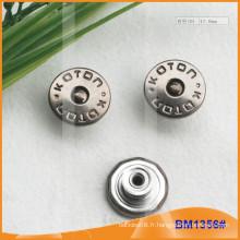 Bouton métallique, boutons Jean personnalisés BM1356