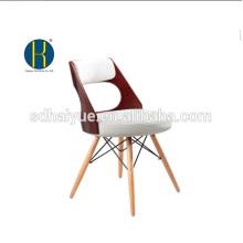 2017 Muebles marrones de alta calidad de la sala de estar de la pintura con las piernas de madera sólidas