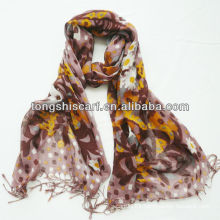 multi colored pashmina viscose scarf