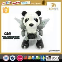 Carro transformar brinquedo robô panda carro elétrico