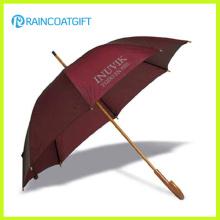 Ouverture manuelle du parapluie en bois droit pour la promotion