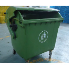 1200L Plastic Garbage Container with Round Lid