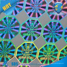 Machen Sie holographische Folien-Aufkleber, Regenbogen-Folien-Aufkleber