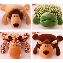 Коралловое руно 3D Одеяло животного дизайна и подушки для животных Одеяло для домашних животных Многофункциональное