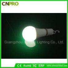 Lampe économiseuse d'énergie intelligente de l'ampoule LED de secours blanche de la lumière E27 5W pour camper